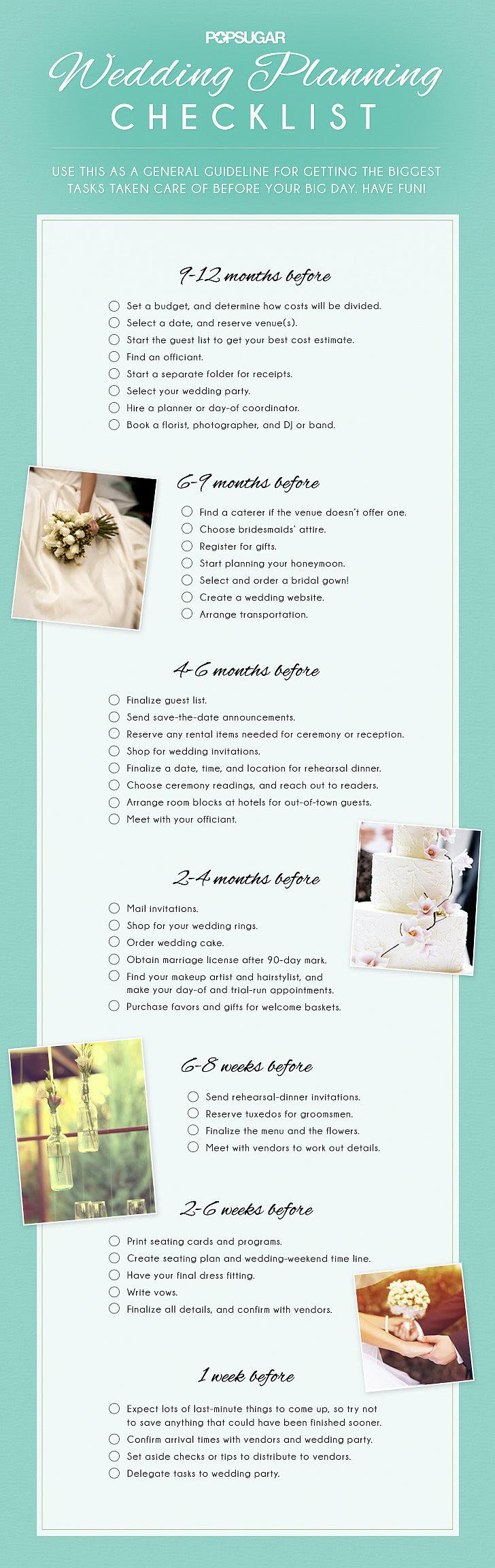 Wedding Planning Checklist | POPSUGAR Smart Living