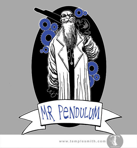 Wormwood Pint Glasses: Mr Pendulum