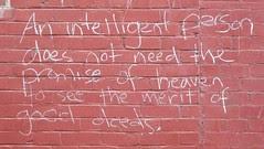 Chalk Writing On Wall