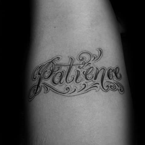 30 Patience Tattoo Designs For Men Word Ink Ideas