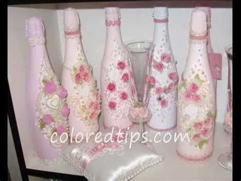 Decorate a champagne bottle for weddings   YouTube