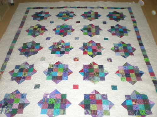 Wedding Quilt...piecing and quilting done...binding and label to go...