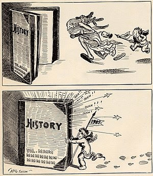 Cartoon showing baby representing New Year 190...