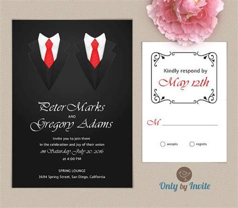 21 best images about Same sex wedding invitations on
