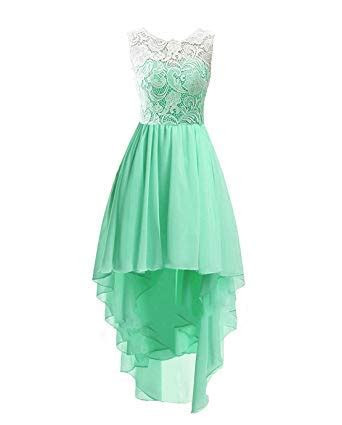 ISHSY Girls' High Low Short Lace Flower Girl Dresses For