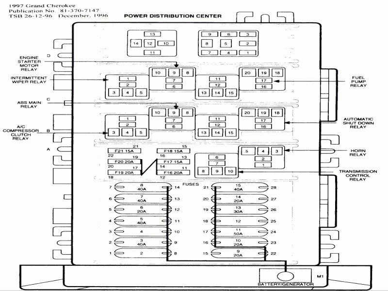 32 2000 Jeep Cherokee Sport Fuse Box Diagram