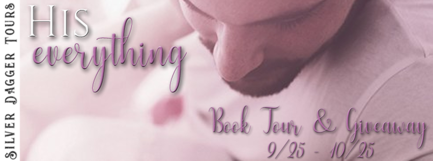 Book Tour Banner for contemporary romance His Everything by Mia Echo with a Book Tour Giveaway