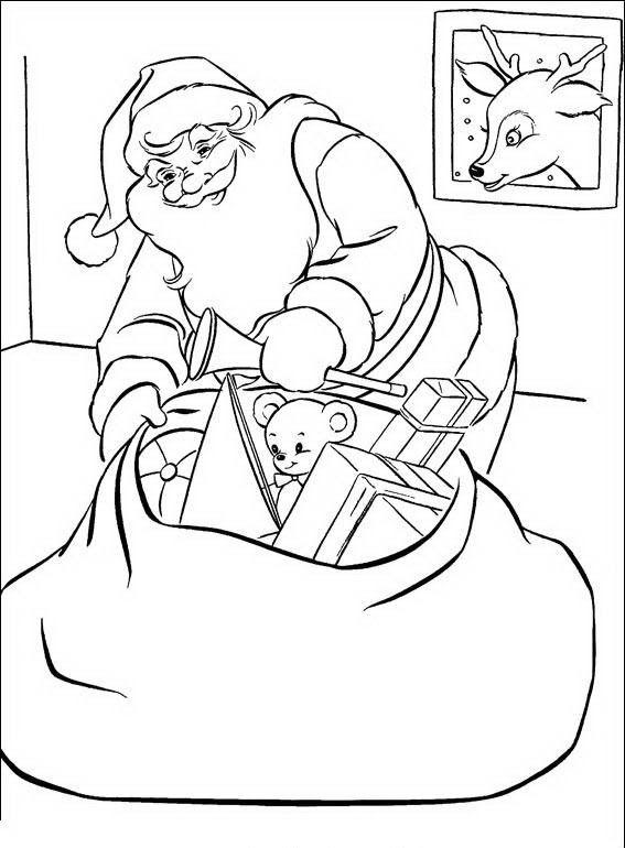 Babbo Natale Da Colorare Disegni Gratis