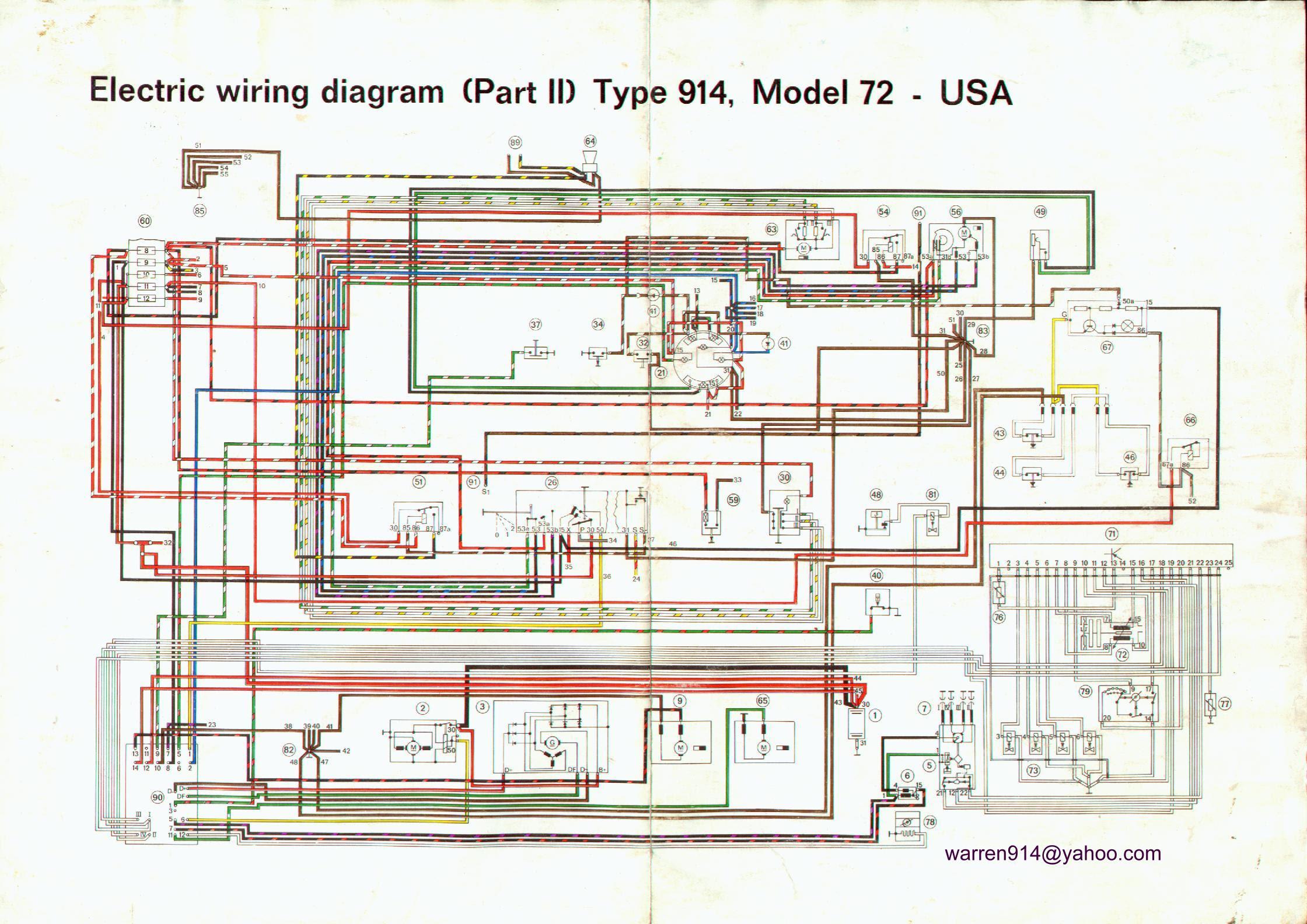 Porsche 924 Stromlaufplan