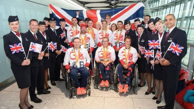 Members of the successful Paralympic GB team