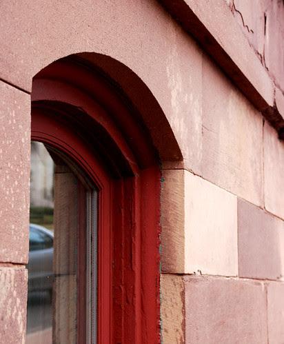 Red Window Frame, Red Sandstone