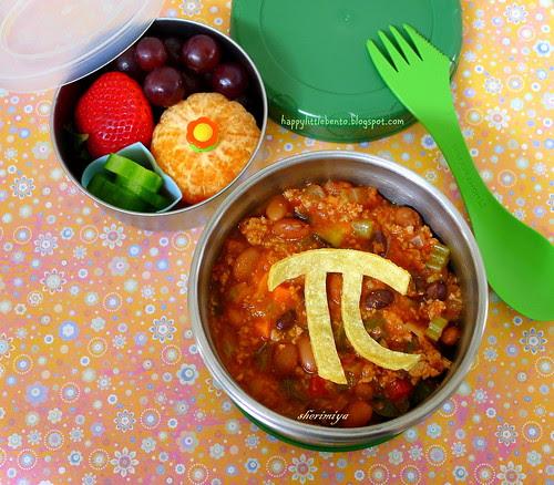 Chili Pi Day Bento by sherimiya ♥