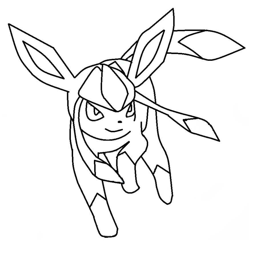 Pokemon Kleurplaten Leafeon