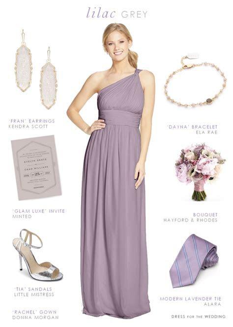 Lilac Gray Bridesmaid Dresses   Purple Maids   Lilac grey