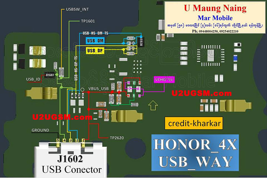 Huawei Honor 4X Usb Charging Problem Solution Jumper Ways
