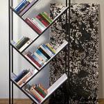 modern freestanding bookshelf with slanted shelves.png 150x150 25 модерни лавици