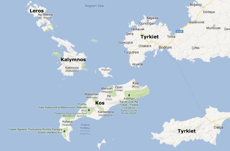 Kort Over Det Græske øhav | Kort