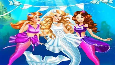 Barbie Mermaid Doll Wedding Cute Bridesmaids Dress Up Game
