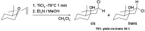 Scheme 7. Halo-Prins reaction
