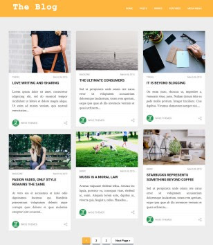 The Blog Theme Blogger Templates