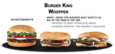 Comida basura: anuncios vs. la dura realidad (con fotos giradas al «ángulo más atractivo») / (C) Dario D.
