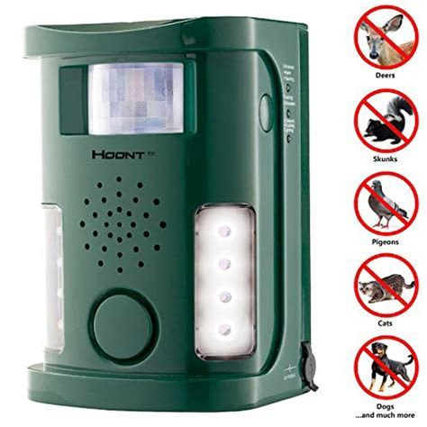 Hoont? Powerful Electronic Outdoor/Indoor Animal & Pest Repeller ? Motion Activated [New Version