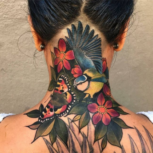 75 Best Neck Tattoos For Men And Women Designs Meanings 2019