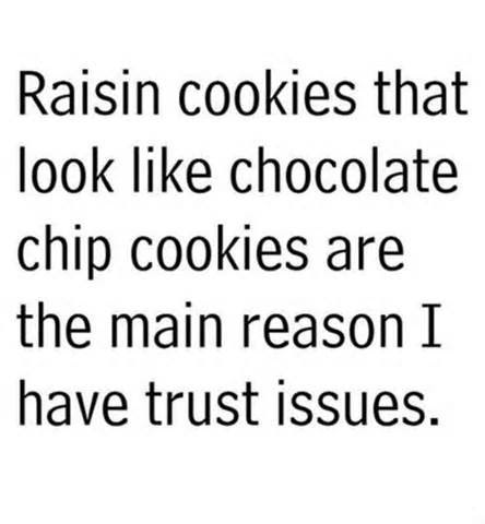 Chocolate Chip Cookie Trust Issues Quotes