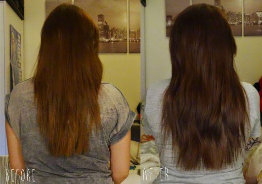cabelo antes e depois