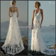 Wholesale Sexy Halter Beach Wedding Dresses V Neck A line