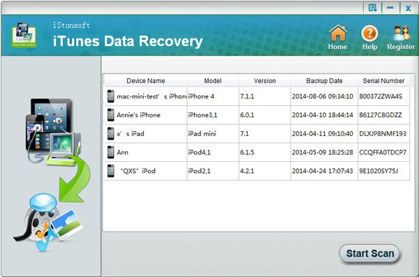 iStonsoft iPhone Backup Recovery for Selective Backup Data Restore for iPhone 5\/4S\/4