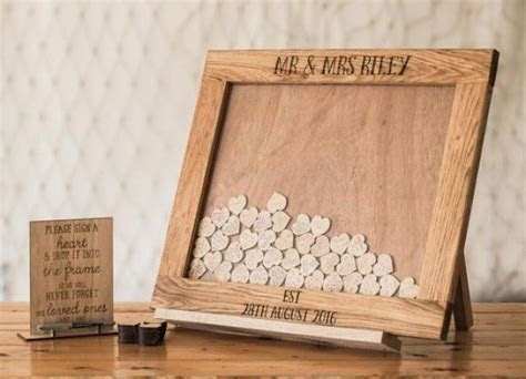 Wedding Guestbook Alternative, Heart Drop, Drop Box, Guest