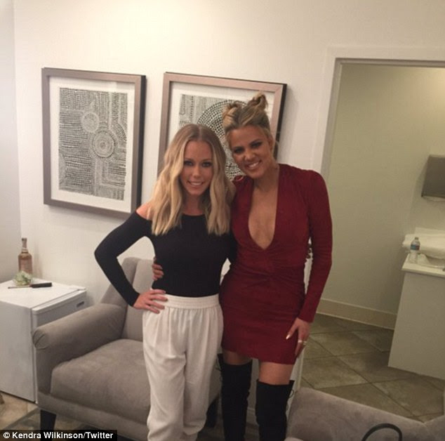 Having a spirited conversation! Kendra revealed in an Instagram post of her with the hostess that they 'turned up'