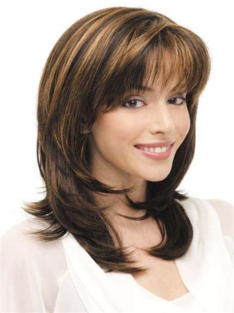 medium length haircut  thick hair