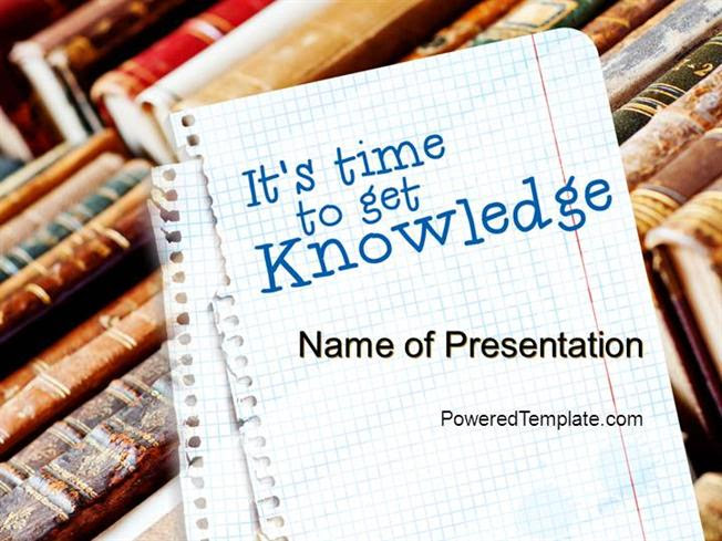 Old Knowledge Powerpoint Template By Poweredtemplate Com Authorstream