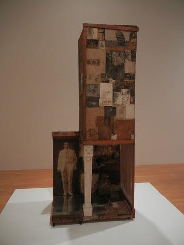 DSCN8746 _ Untitled, c. 1954, Oil, pencil, crayon, paper, canvas, fabric, wood, glass, mirror, etc., Robert Rauschenberg (1925-2008), MOCA