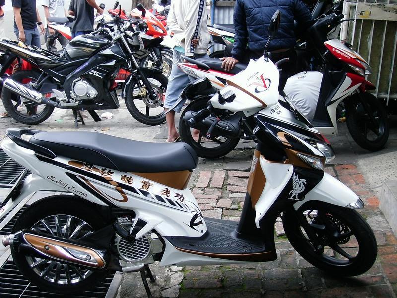 Stiker Modifikasi Ninja 150 RR New Hijau Motif SUNMOON V2 ...