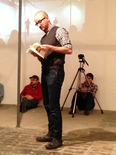Aram Jibilian reading at Chris Stackhouse book launch