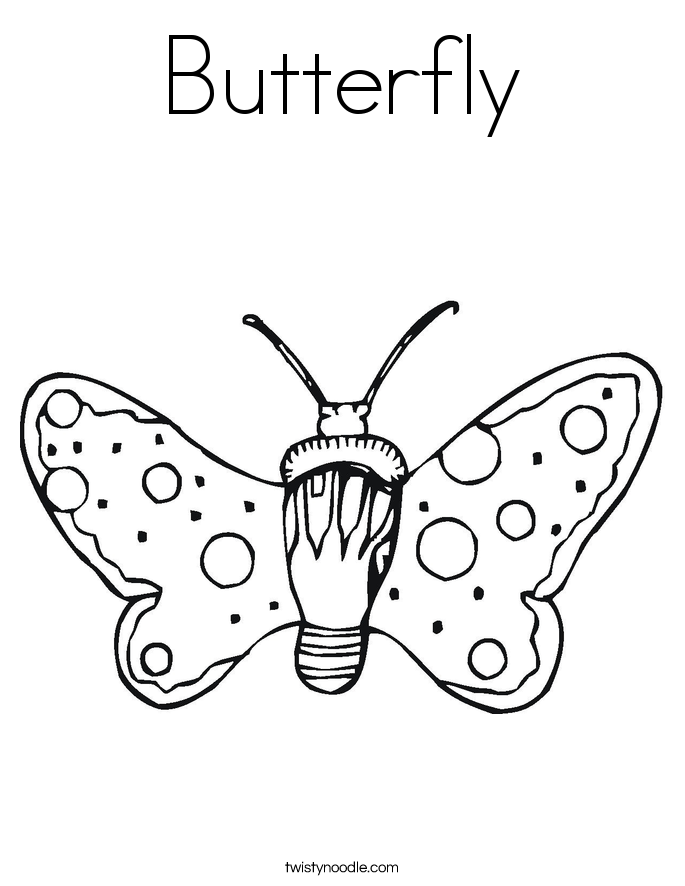 Butterfly Wings Coloring Pages Sketch Coloring Page