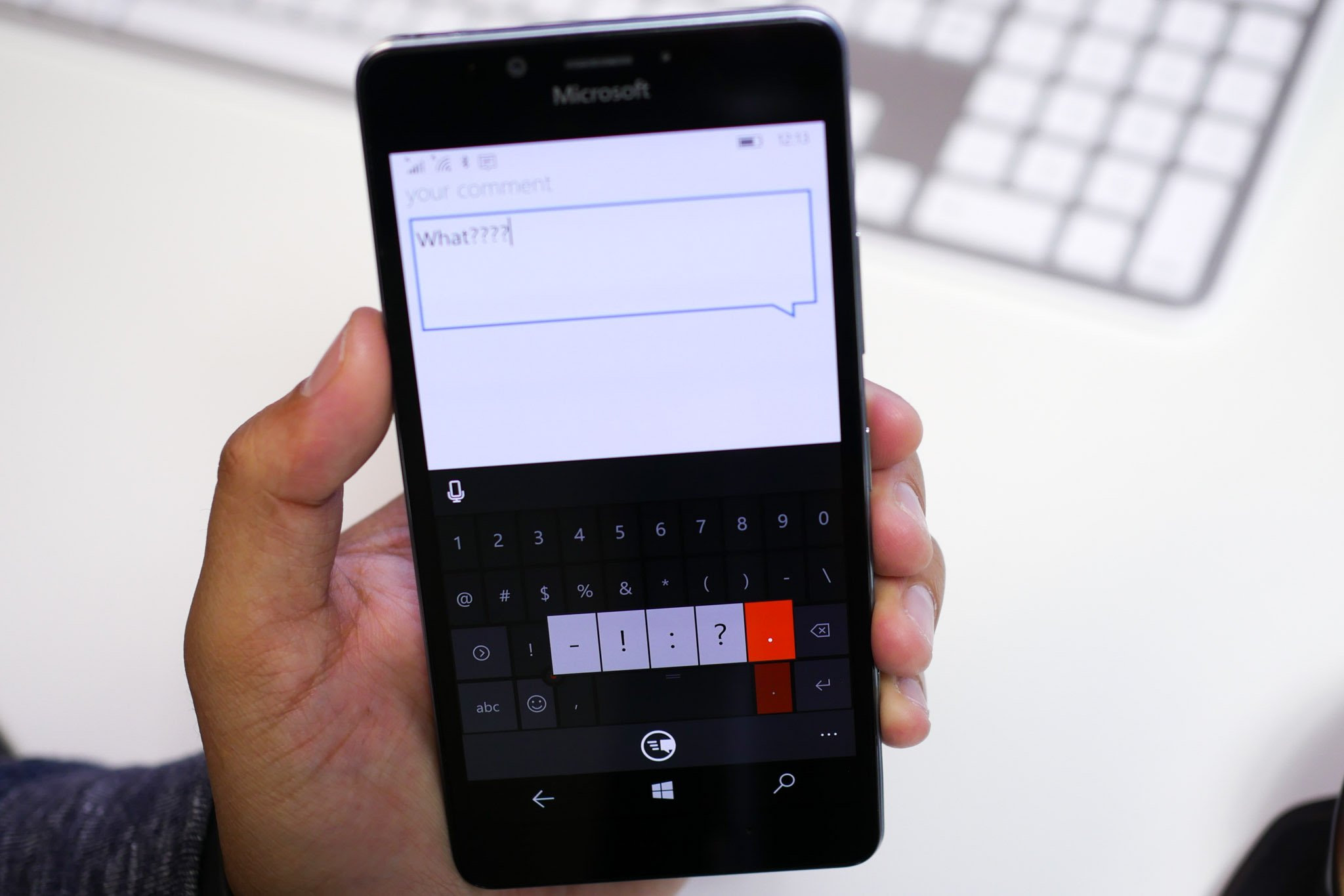 Lumia 950 keyboard