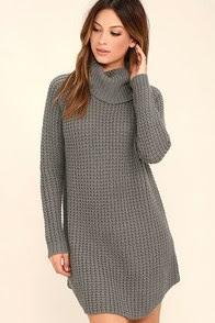 Element Eden Eleventh Grey Sweater Dress