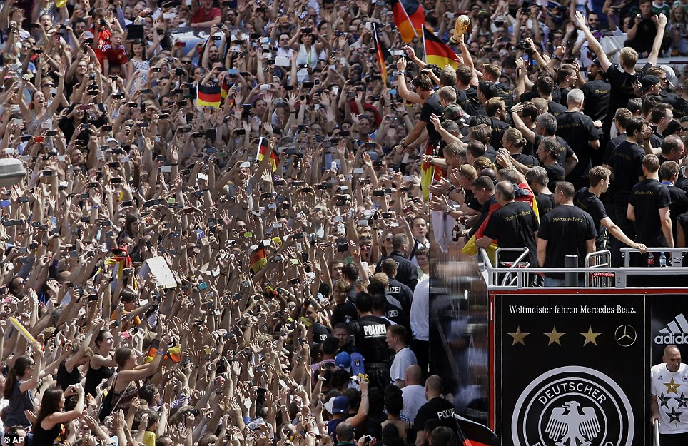 Fans greet the Germany team