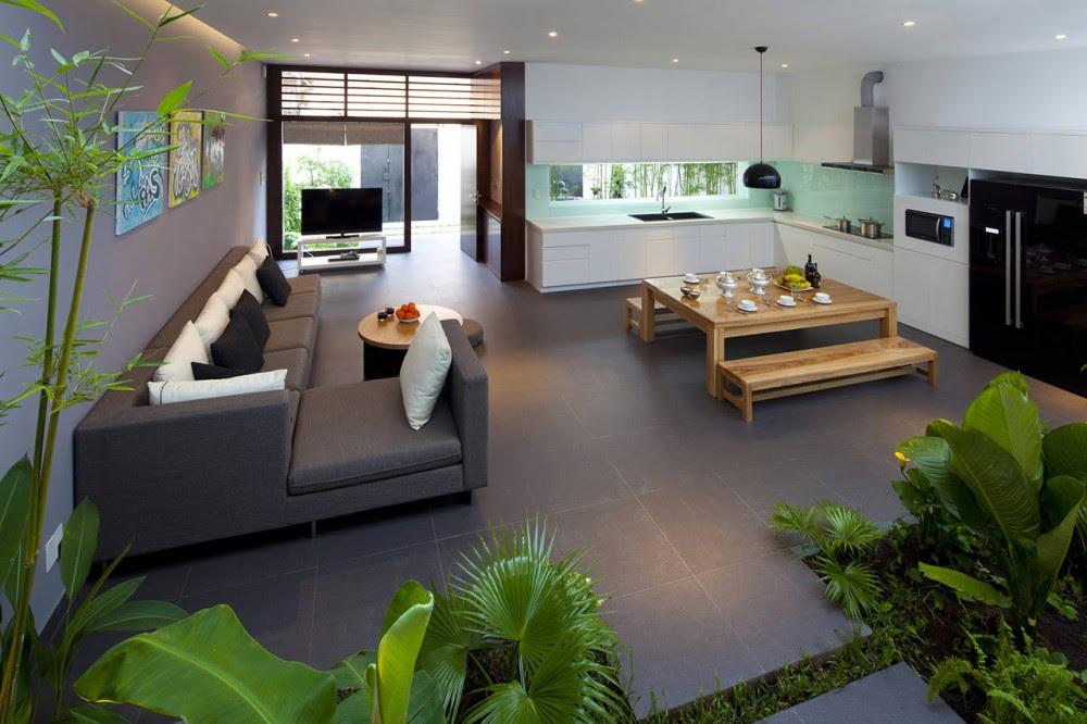 A Fresh Home With Open Living Area & Internal Courtyard Open plan ...
