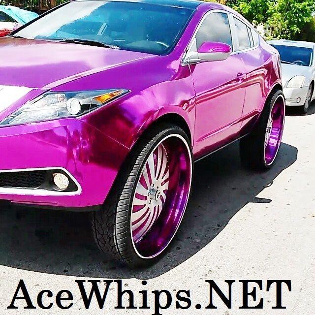 """Ace-1: Chrome Pink Acura ZDX On 32"""" Forgiatos"""