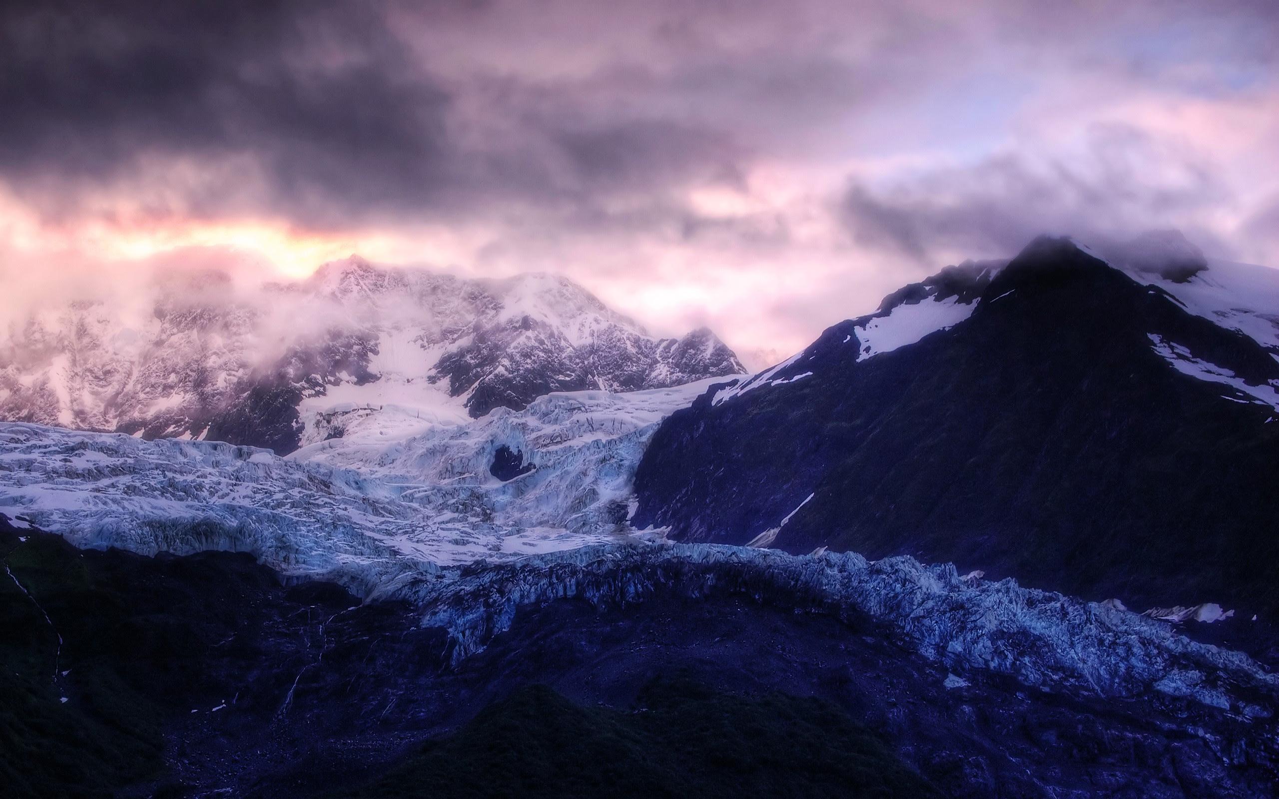 WALLPAPERS HD Glacier Sunrise