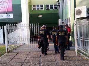 Equipes da PF estão desde o início da manhã em prédios da Assembleia  (Foto: Divulgação/PF)