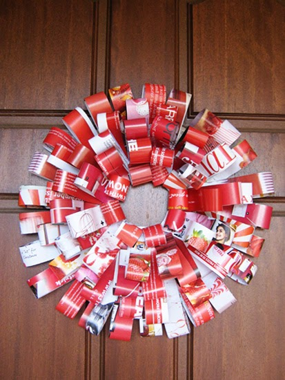 christmas crafts to make crafting on a budget diy upcycled magazine paper wreath 28773