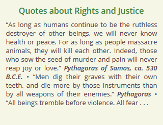 Quotes About Rights And Justice Other Animal Rights Issues