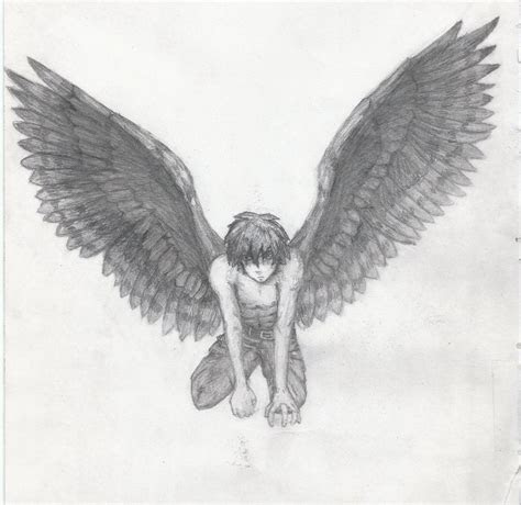 anime boy  angel wings angel boy dri  aressian