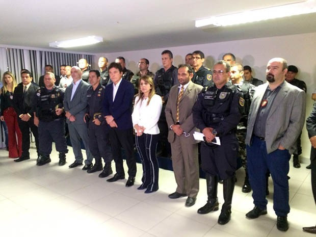 Governador reuniu cúpula da segurança pública nesta quinta (21) (Foto: Kléber Teixeira/Inter TV Cabugi)